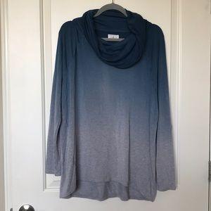 LOU & GREY • Ombré Cowl Neck Sweater Sz L